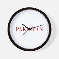 Pakistan-Bau red 400 Wall Clock