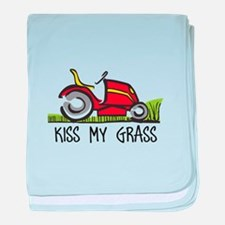 KISS MY GRASS baby blanket