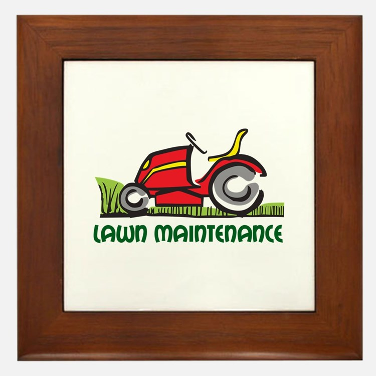 LAWN MAINTENANCE Framed Tile