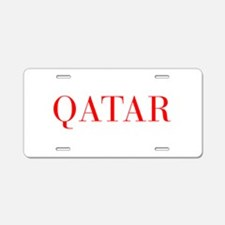 Qatar-Bau red 400 Aluminum License Plate