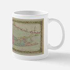 Long Island Mug: Historic 1857 Map