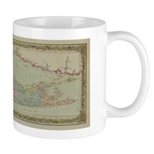 Long Island Mug: Historic 1857 Map