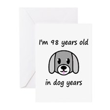 14 dog years 2 - 2 Greeting Cards
