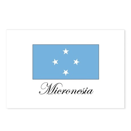 Micronesia - Flag Postcards (Package of 8)