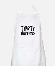 30th birthday happens BBQ Apron