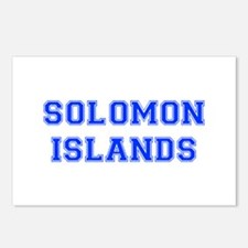 Solomon Islands-Var blue 400 Postcards (Package of