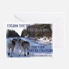 Lead Dog Greeting Card