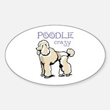 POODLE CRAZY Decal
