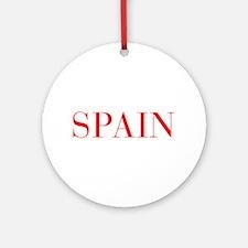 Spain-Bau red 400 Ornament (Round)