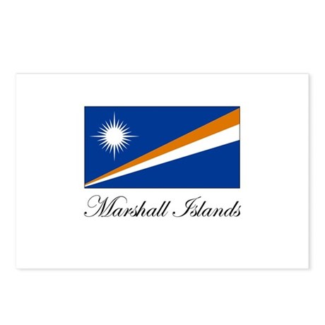 Marshall Islands - Flag Postcards (Package of 8)