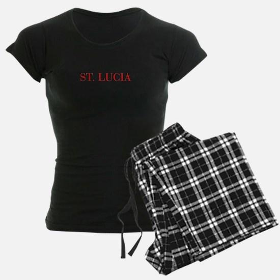 St Lucia-Bau red 400 Pajamas