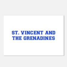St Vincent and The Grenadines-Var blue 400 Postcar
