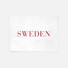 Sweden-Bau red 400 5'x7'Area Rug