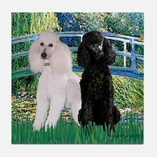 Bridge & Poodle Pair (St) Tile Coaster
