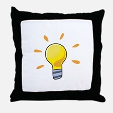 LIGHTBULB Throw Pillow