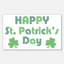 Happy St. Patrick's Day Sticker (Rectangle)