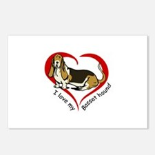 LOVE MY BASSET HOUND Postcards (Package of 8)