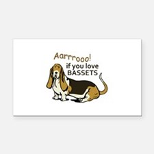 IF YOU LOVE BASSETS Rectangle Car Magnet