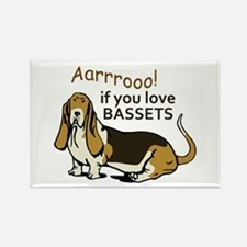IF YOU LOVE BASSETS Magnets