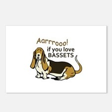 IF YOU LOVE BASSETS Postcards (Package of 8)