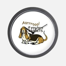 IF YOU LOVE BASSETS Wall Clock