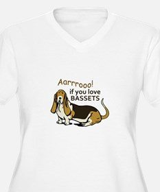 IF YOU LOVE BASSETS Plus Size T-Shirt