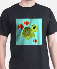 Sea Turtle Fish Ocean Swimmers T-Shirt