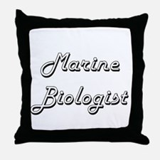 Marine Biologist Classic Job Design Throw Pillow