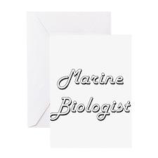 Marine Biologist Classic Job Design Greeting Cards