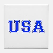 USA-Var blue 400 Tile Coaster