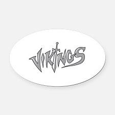 VIKINGS Oval Car Magnet