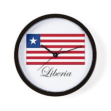 Liberia - Flag Wall Clock