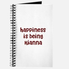 happiness is being Kianna Journal