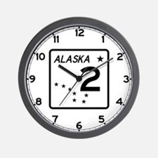 Route 2, Alaska Wall Clock