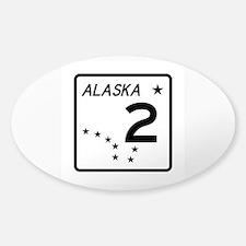 Route 2, Alaska Sticker (Oval)