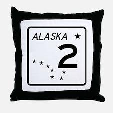 Route 2, Alaska Throw Pillow