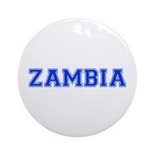 Zambia-Var blue 400 Ornament (Round)