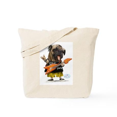 Pug Rocker Tote Bag