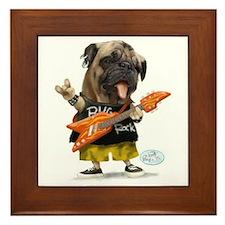 Pug Rocker Framed Tile