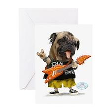 Pug Rocker Greeting Card