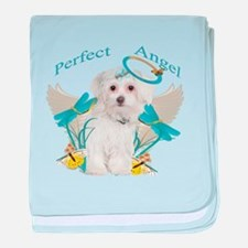 Maltese Perfect Angel baby blanket