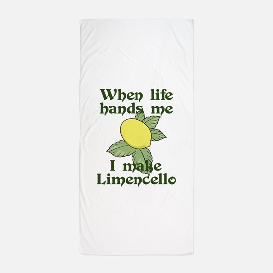 WHEN LIFE HANDS ME LEMONS Beach Towel