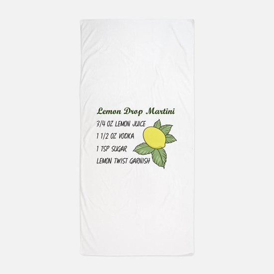 LEMON DROP MARTINI Beach Towel
