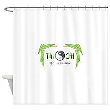 BAMBOO TAI CHI Shower Curtain
