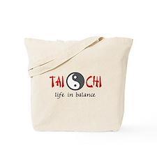 TAI CHI LIFE IN BALANCE Tote Bag