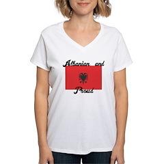 Albanian and Proud Women's V-Neck T-Shirt
