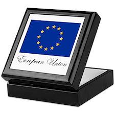 European Union - Flag Keepsake Box