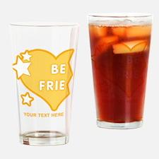 CUSTOM TEXT Best Friends (left half Drinking Glass
