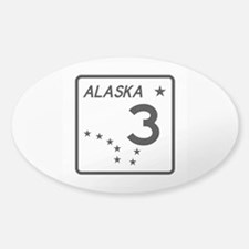 Route 3, Alaska Sticker (Oval)