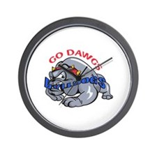 GO DAWGS Wall Clock
